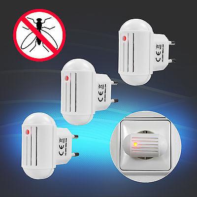 3x INSEKTENVERTREIBER Mückenschutz elektrisch Ultraschall Mückenvertreiber UV