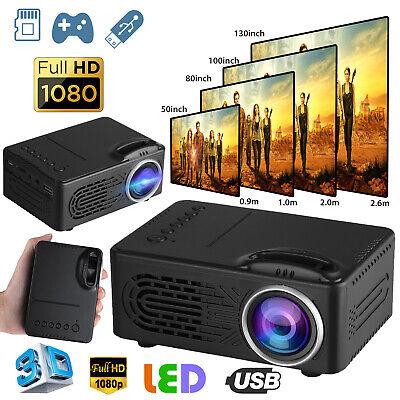 Full HD 1080P Smart Home Theater Mini Projector 3D LED Cinema Multimedia TFT LCD