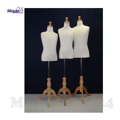 Set Of Kid Dress Body Form Mannequins Size 7-8 9-10 11-12t Child Torso Display