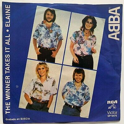"ABBA -THE WINNER TAKES IT ALL / ELAINE- 1983 MEXICAN 7"" SINGLE PS EUROPOP"