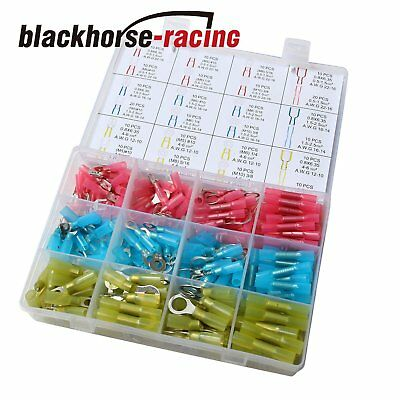 250pcs Heat Shrink Wire Connector Kit Waterproof Marine Automotive Terminal New