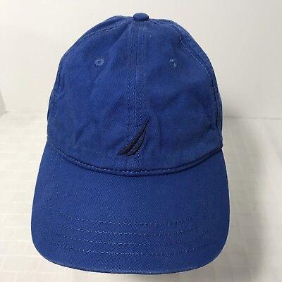Nautica 6 Panel Cap Hat Strapback Blue