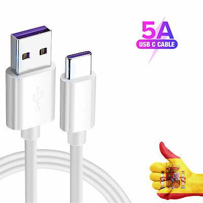5A Usb Tipo C Cargador Cable Datos Carga Rápida Para Huawei P30...