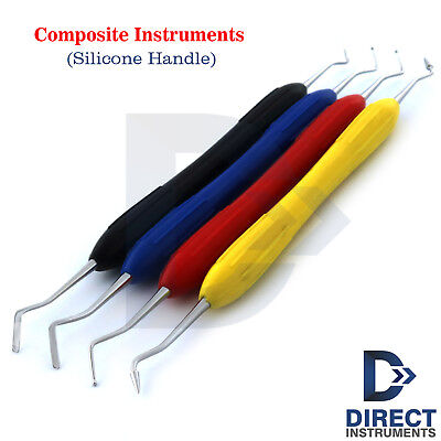 Set Of 4 Composite Instruments Dentists Placing Sculpting Contouring Restoration