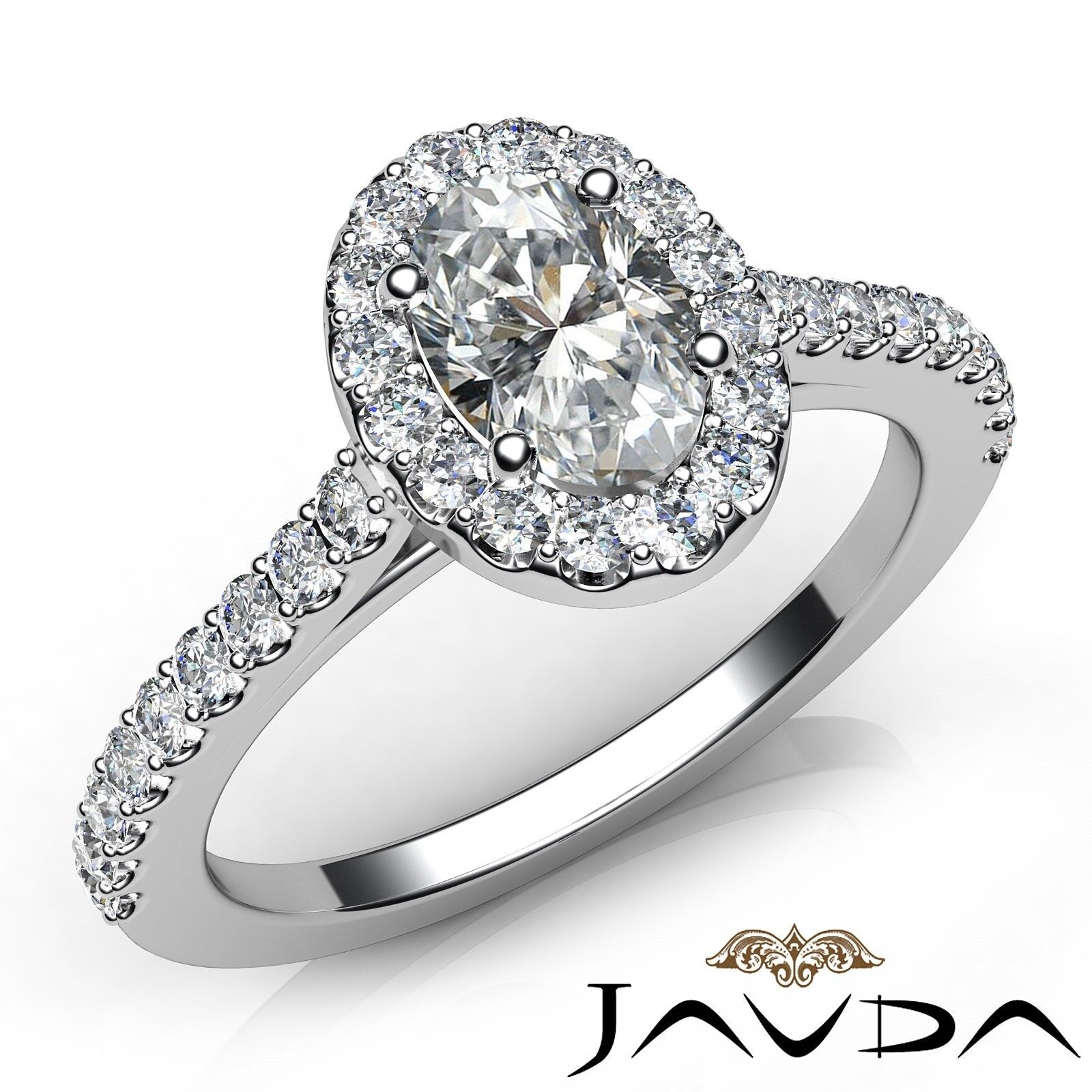 1.31ctw Comfort Fit Oval Diamond Engagement Ring GIA G-SI1 White Gold Women New