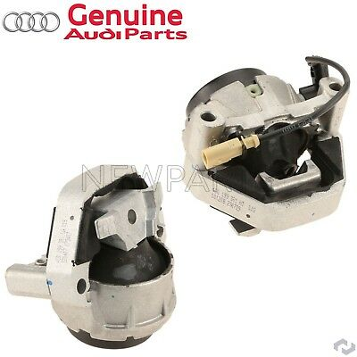 Genuine For Audi A6 12-15 Pair of Passenger Right & Driver Left Engine Mounts