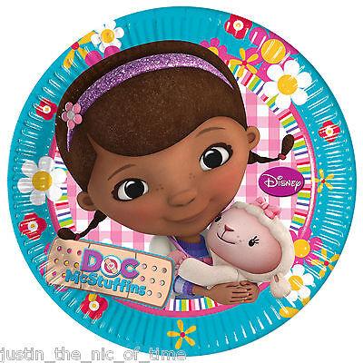 DOC McSTUFFINS Girls Birthday Party Supplies Tableware Big 23cm PLATES x8 ()