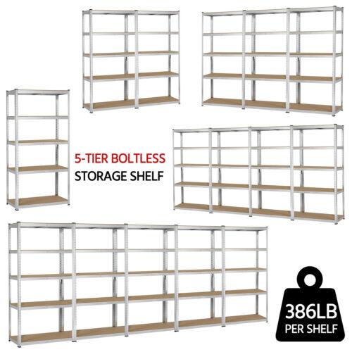 Heavy Duty Storage Shelves 5 Level Adjustable Garage Shelf M