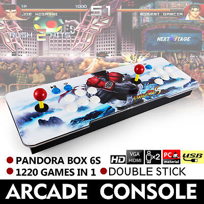 1299 in 1 Pandora Box 6s Retro Video Games Double Stick Arcade Console Light US