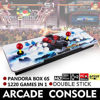 1220 in 1 Pandora Box 6s Retro Video Games Double Stick Arcade Console Light US