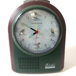 Birdsongs Alarm Clock chimes birdsong on the 1/4 hour & alarm
