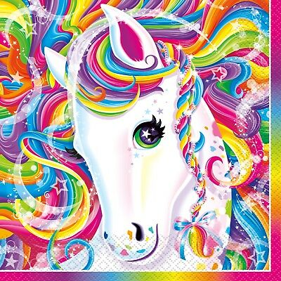 Lisa Frank Rainbow Lunch Napkins Birthday Party Favor Party Decoration Supply ](Birthday Party Supply)