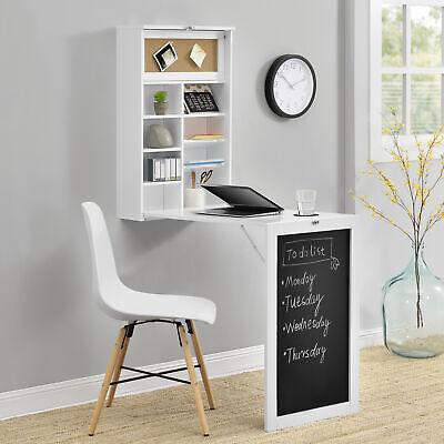 [en.casa] Wandtisch Weiß Schreibtisch Tisch Regal Wand Klapptisch aus-klappbar