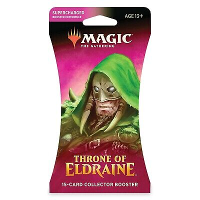 MTG THRONE OF ELDRAINE SLEEVED COLLECTOR BOOSTER - Factory Sealed - English
