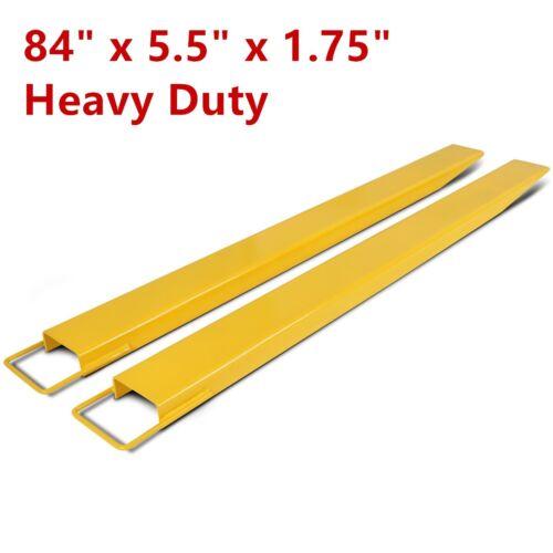 "84"" Steel Pallet Fork Extensions Forklift Lift Truck Slide On Clamp 84 x 5.5"""