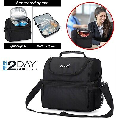 Insulated Lunch Box Tote Bag Travel Men Women Adult Hot Cold Food Thermal - Hot Adult Women