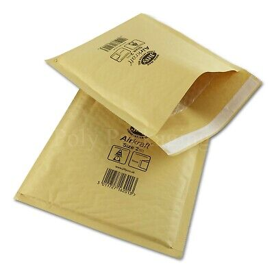 300 x JIFFY GOLD ENVELOPES 205x245mm(Size 2) Padded Mailing Bags Large Letter