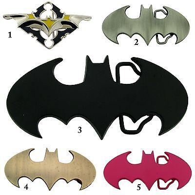 Batman Gürtelschnalle Kostüm Gürtel Halloween Superheld Lizenziert Offiziell ()