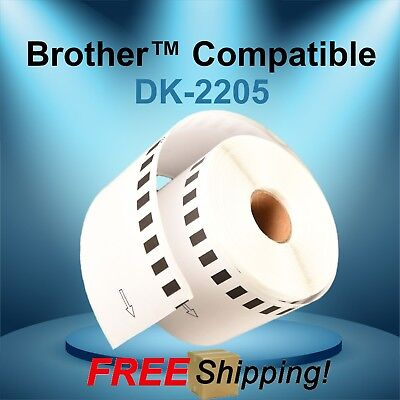 White Continuous Labels 2205 Brother Compatible Rolls Ql700 Ql500 W Cartridges