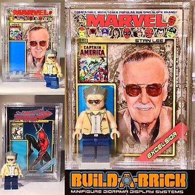 Stan Lee Custom Marvel Comics Mini Action Figure w Diorama Case 328 Mini fig