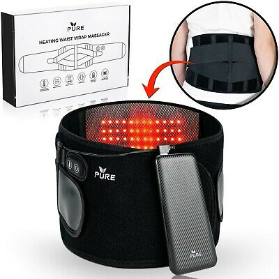 PURE 3in1 Cordless Infrared Heating Pad Lower Back Massager Lumbar Support Belt