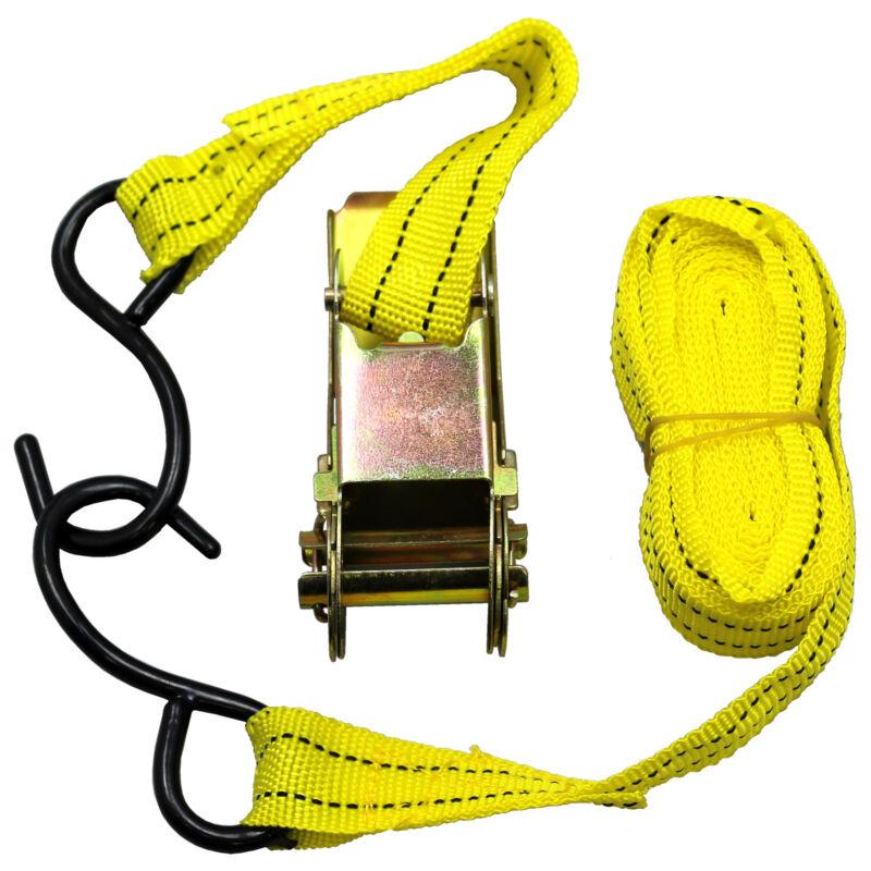 "US SELLER ~ Ratchet Tie Down Cargo Strap 1"" inch x 13"