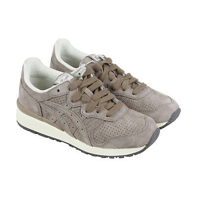 Onitsuka Tiger Tiger Ally Mens Beige Suede Athletic Lace Up Running Shoes