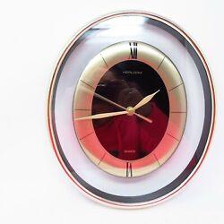Heirloom Oval Floating Battery Wall Clock - 11.5x 10 Quartz