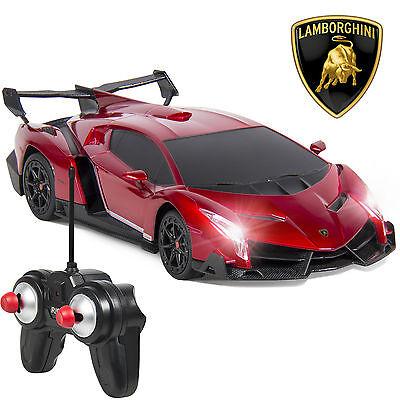 1/24 Officially Licensed RC Lamborghini Veneno Sport Racing Car W/ 27MHz Control