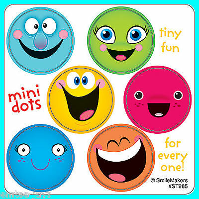 Smiley Face Charts - Smiley Face Stickers - 48 Dots - 8 Sheets - Reward Charts Favours Teachers SMILE