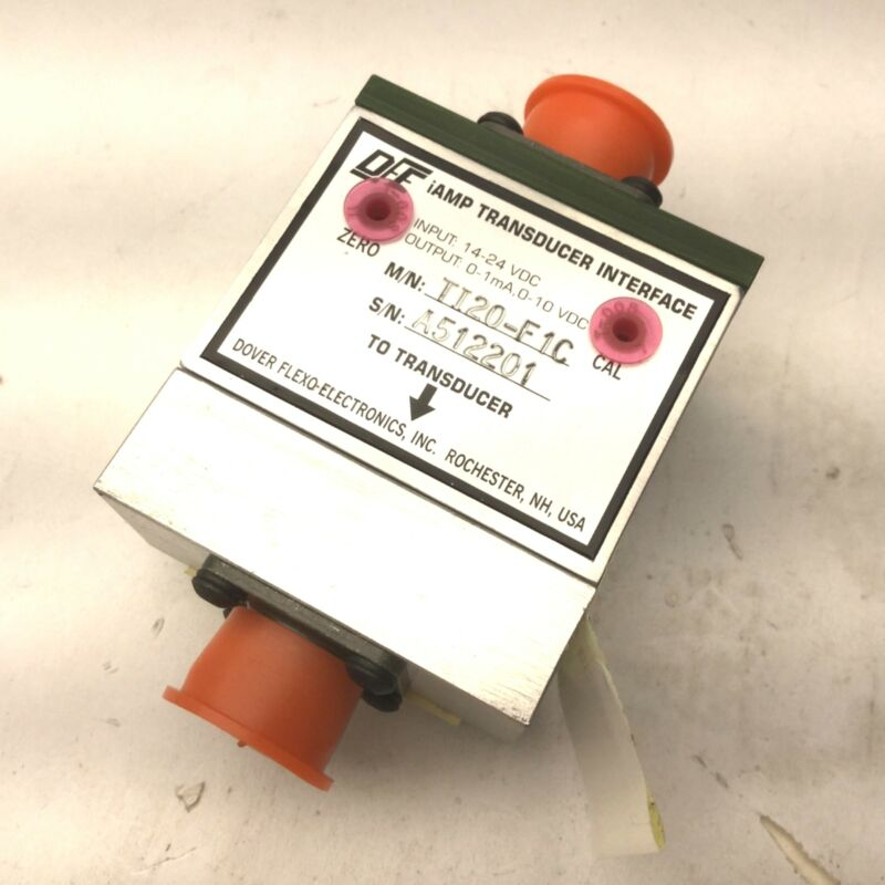 Dover TI20-F1C iAmp Transducer Interface, Input: 14-24VDC, Out: 0-1mA, 0-10 VDC