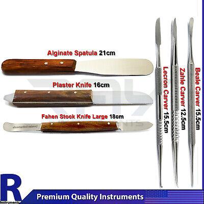 6pcs Dental Laboratory Modeling Tools Kit Wax Carver Mixing Plaster Spatula Tool