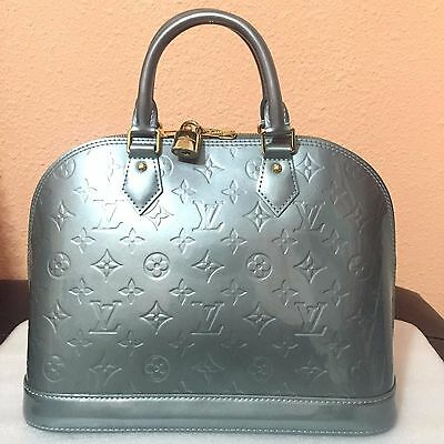 LOUIS VUITTON VERNIS ALMA PM SATCHEL PATENT BAG HANDBAG