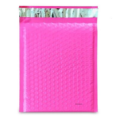 250 0 Pink Poly Bubble Mailers Envelopes Bags 6x10 Extra Wide Cd Dvd 6x9