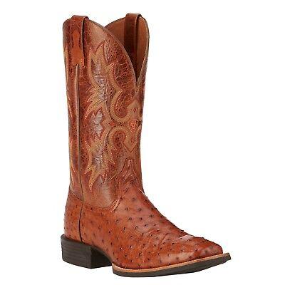 (Ariat Men's Quantum Classic Brandy Full Quill Ostrich Boot 10016275)