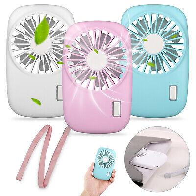 Mini Pocket Fan USB Rechargeable Handheld Portable Summer Co