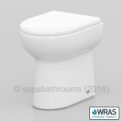 BTW Back to Wall Linton Toilet D shaped Pan Including Soft Close Toilet Seat