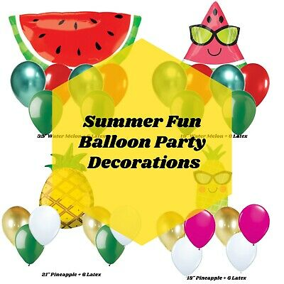 Tropical Party Supplies Picnic Party Decorations, Balloons Foil Bundle, Birthday - Picnic Party Supplies