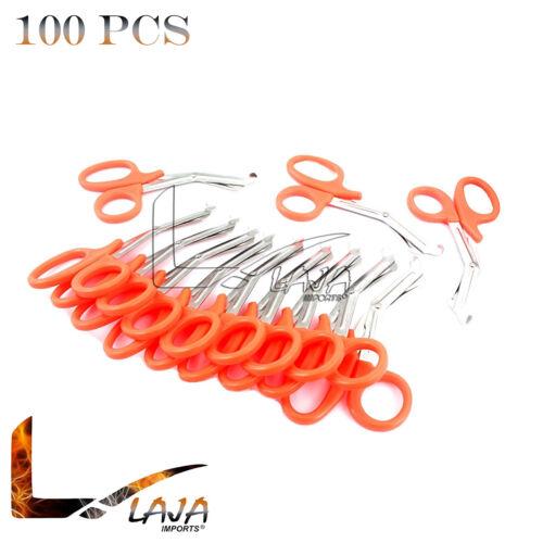 """100 EMT Shears Scissors Bandage Paramedic Ems 7.25"""" Orange Color"""