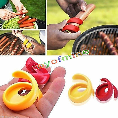 2pcs NEW Plastic Spiral Hot Dog Sausage Cutter Slicer Home Kitchen Cutting Tools