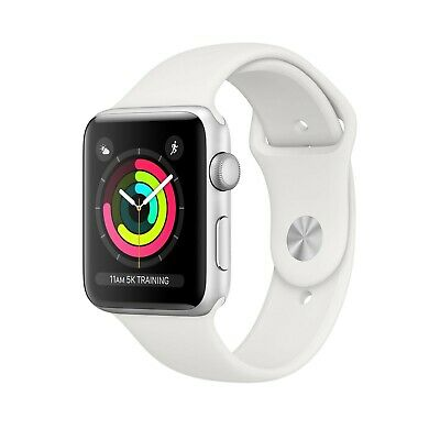 Apple Watch S3 42mm 8GB Silver - Aluminium Case - Black Sport Band UK Stock