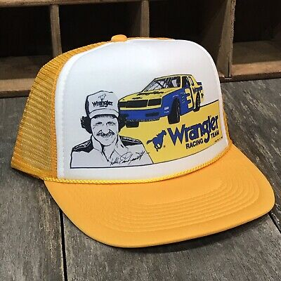 Wrangler Racing Team Vintage 80's Trucker Hat Nascar Earnhardt Racing #3 - Nascar Womens Hats