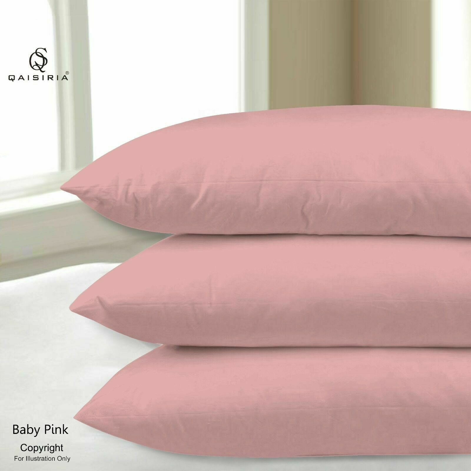 2x Pillow Case Luxury Cases Polyester Housewife Pair Pack Bedroom Pillow Cover