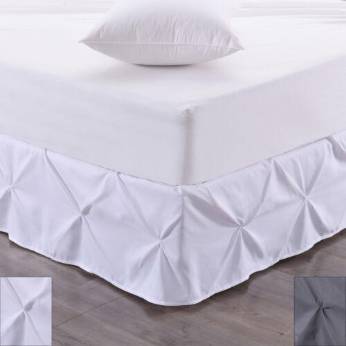 Hudson Pintuck Bed skirt Ruffle 14″ Drop Bed Skirts
