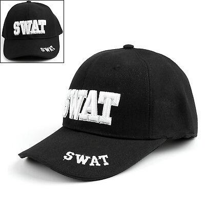SWAT Team Law Enforcement Police Caps Adjustable Baseball Ball Hat Black Cap US