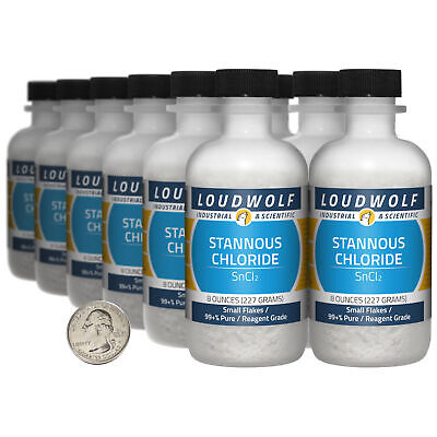 Stannous Chloride 6 Lbs 12 Bottles 99 Pure Reagent Grade Small Flakes
