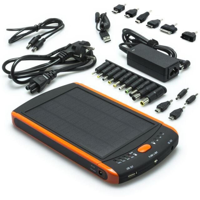 Power Bank Charger 23000mAh mobile External Battery iPhone 5 Solar 5V - 19V