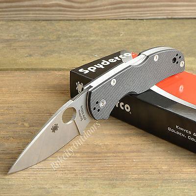 Spyderco Native 5 S35vn Satin Plain Edge Black G10 Handle Knife C41gp5