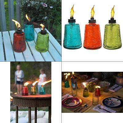 6 in. glass tabletop torch trio (3 pack)