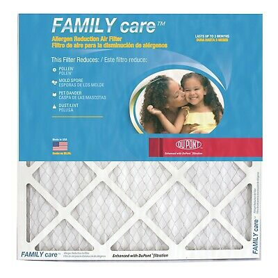 16x25x1 Dupont Family Care Pollen Allergen Merv 8 Air Filters. Case Of 12